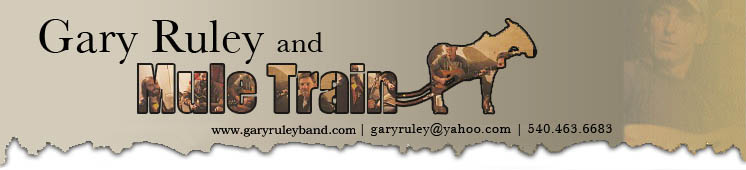 Gary Ruley and Mule Train